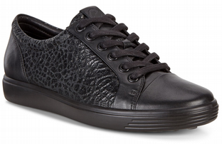 ECCO Ladies Shoes Soft 7 Black Black Droid